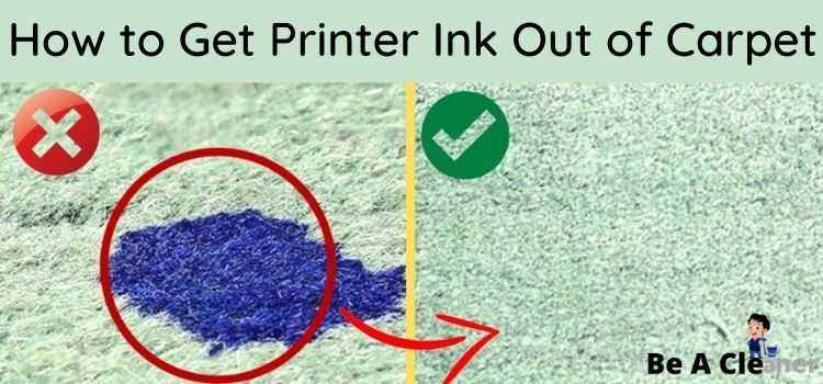 How to Get Printer Ink Out of Carpet