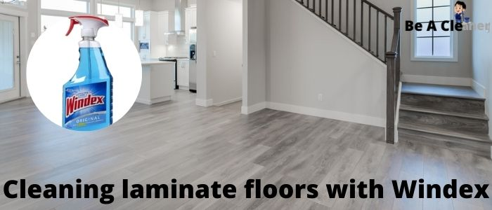 Cleaning laminate floors with Windex